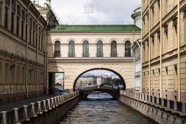 Hermitage Bridge in St. Petersburg, Russia