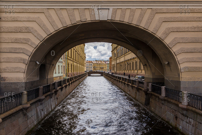 St. Petersburg, Russia - July 20, 2017: Winter Canal