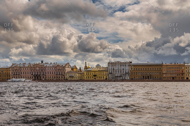 St. Petersburg, Russia - July 20, 2017: View across Nova River