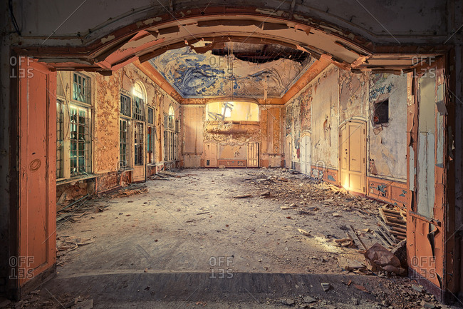 March 4, 2017: Abandoned magnificent ballroom
