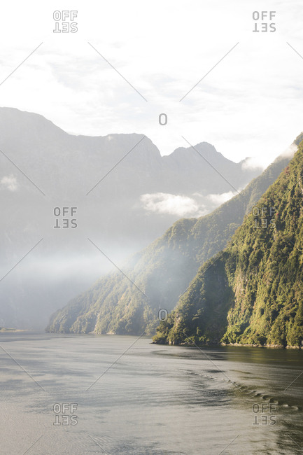 A view of the Milford Sound in Fjordland National Park, New Zealand