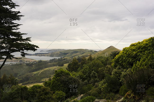 A view of the countryside near Dunedin, New Zealand