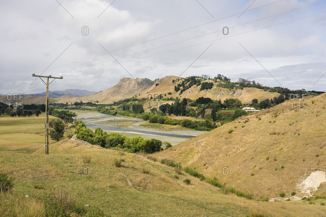A view of the countryside near Napier, New Zealand