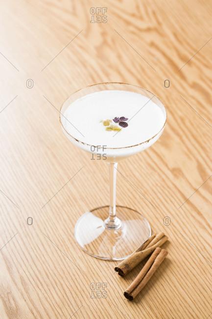 Martini and raw cinnamon