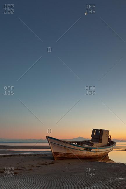Boat wreck in Grado beach, Friuli Venezia Giulia, Italy