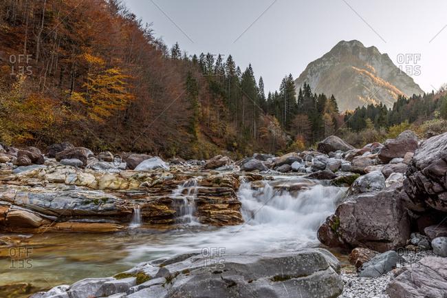 Slizza river in the autumn, Tarvisio, Friuli Venezia Giulia, Italy