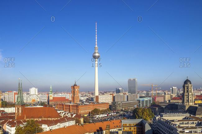 Germany- Berlin- Berlin-Mitte- Berlin buildings and city hall