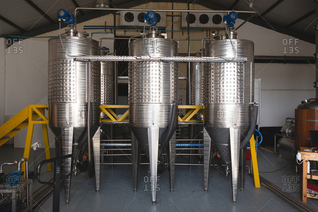 Wine distillery in gin factory