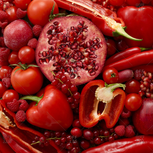 Fresh red produce