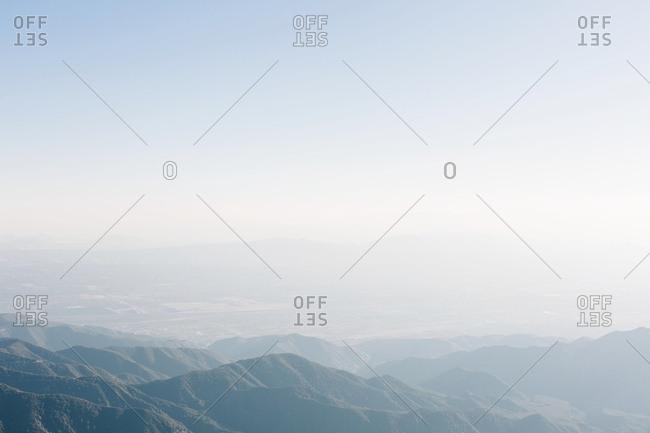 Hazy mountain landscape