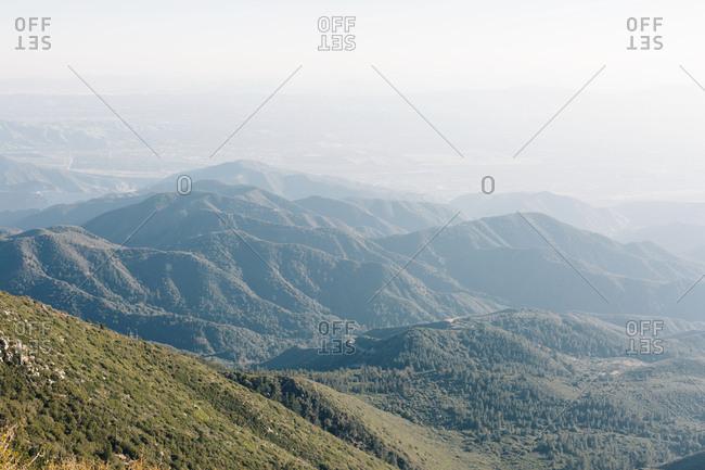 Hazy mountainscape