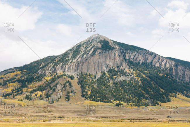 Rocky peak in Colorado during fall