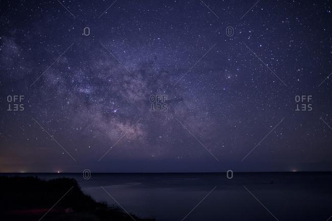 Starry night over Istrian peninsula, Croatia