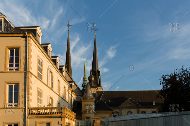 Steeples on the Notre-Dame Cathedral, Luxembourg