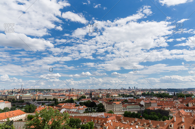 Bird's eye view of Prague, Czech Republic