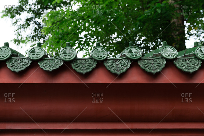 Roof with classic Taiwanese design in Taiwan