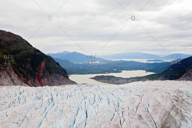 Icy crevices in Alaska