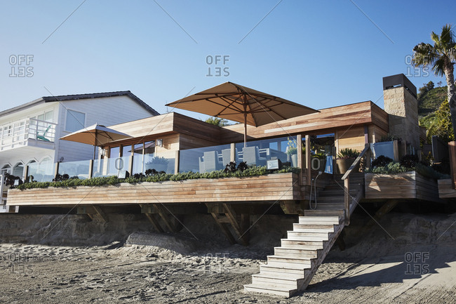 Malibu California March 15 2017 Exterior Landscaping Designed By Chad Eisner At A Modern Beach House Stock Photo Offset