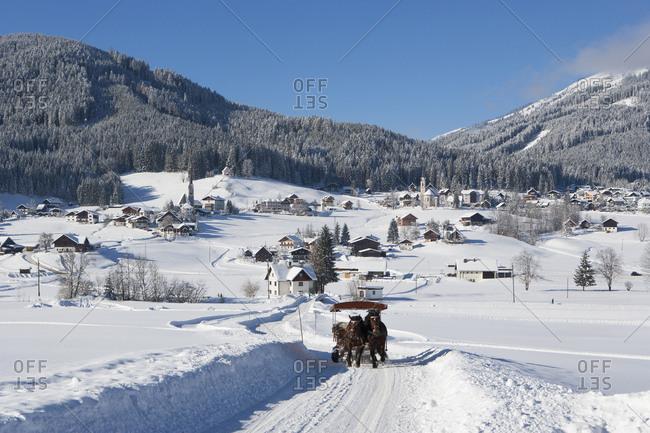 Austria- Upper Austria- Salzkammergut- Gosau- Ski area Dachstein-West