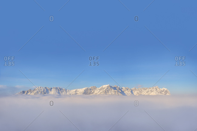 Austria- Tyrol- View of Kaiser Mountains- Wilder Kaiser and Zahmer Kaiser