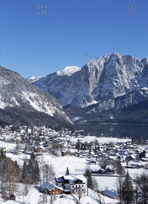 Austria- Styria- Salzkammergut- Altaussee- Altausseer See- Trisselwand