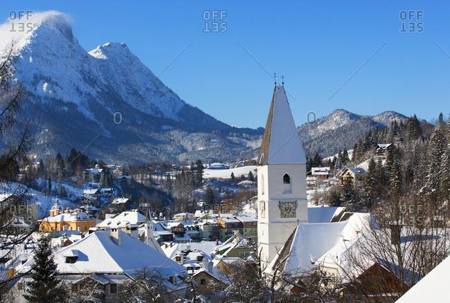Austria- Styria- Salzkammergut- Bad Aussee- parish church