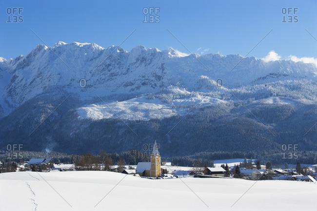 Austria- Styria- Salzkammergut- Steirisches Salzkammergut- Bad Mitterndorf- Grimming Mountain in the background