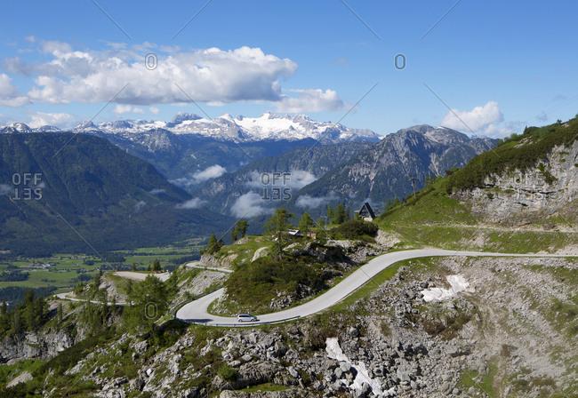 Austria- Styria- Salzkammergut- Ausseerland- View from Loser scenic road to Dachstein