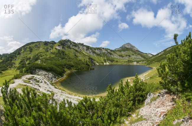 Austria- Upper Austria- Salzkammergut- Totes Gebirge- Wildensee- Rinnerkogel