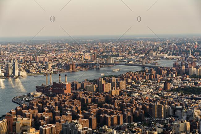 New York, New York - July 22, 2016: Cityscape of New York City