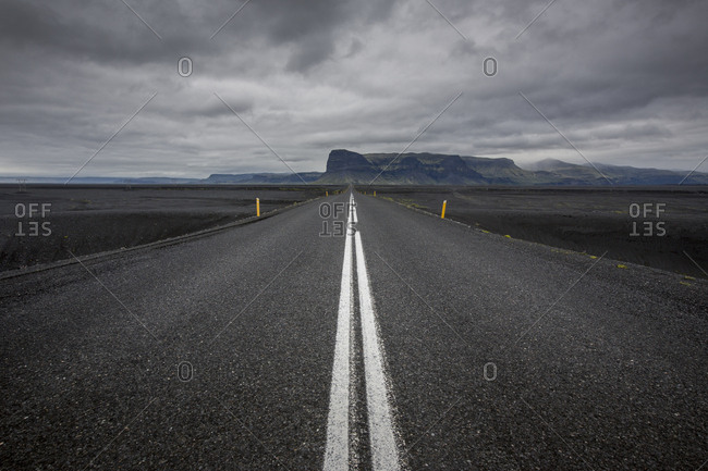 A rural road in Iceland