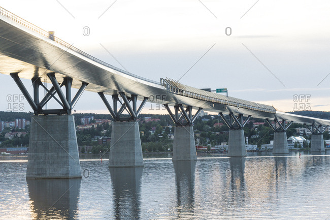 Medelpad, Sweden - June 13, 2016: Bridge over a river