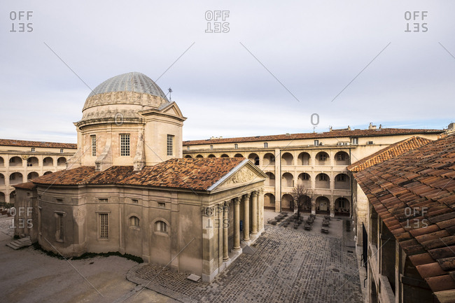 Marseille, France - March 6, 2017: High angle view of La Vieille Charite against sky