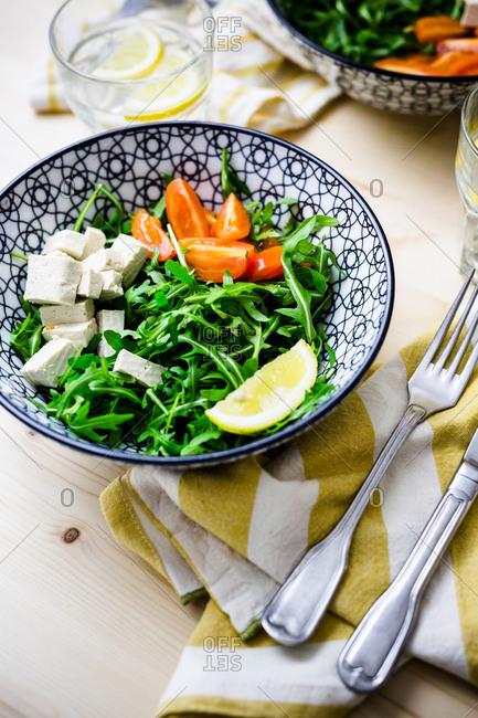 Feta salad lunch bowl