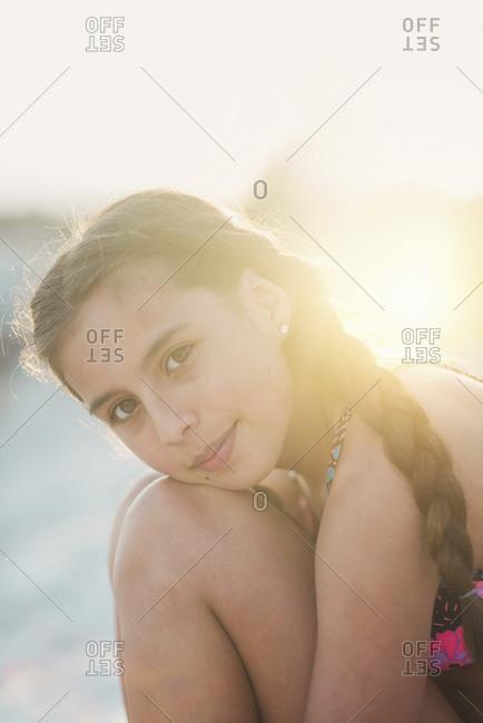 Teen portrait on beach