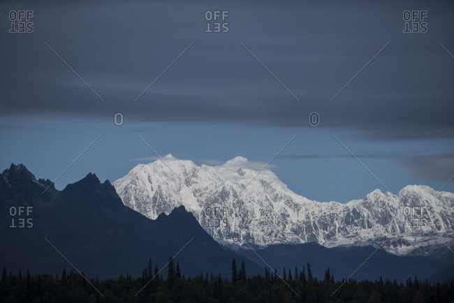 Scenic view of mountains at Denali National Park and Preserve against sky