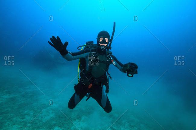 Diving, Adriatic Sea, Croatia, Europe