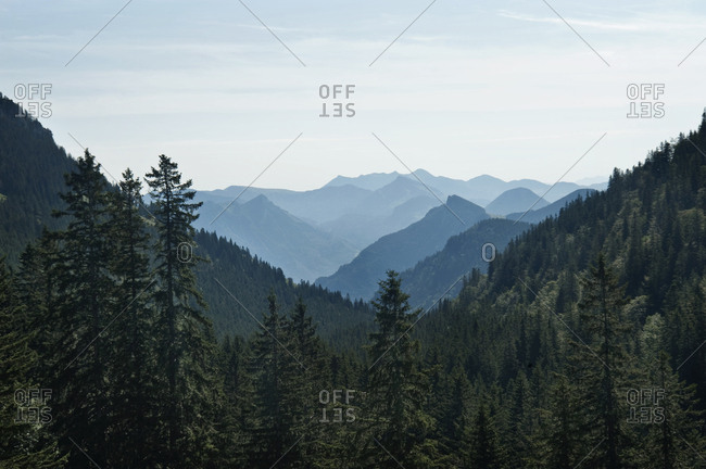 Mountain Range, Inntal Valley, Bavarian Alps, Germany