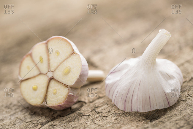 Fresh Garlic, Close-up, Germany