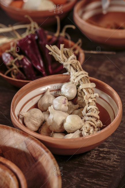 Fresh garlic, close-up