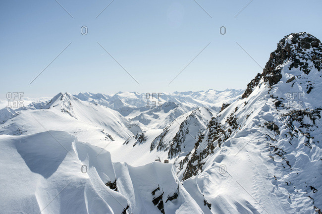 Mountain scenery, snowcapped rocks, European Alps, Tyrol, Austria