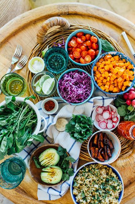 Ingredients in a basket