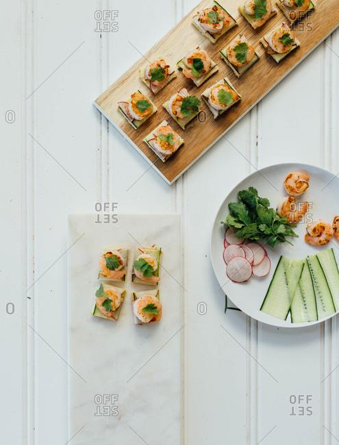 Shrimp appetizer preparation
