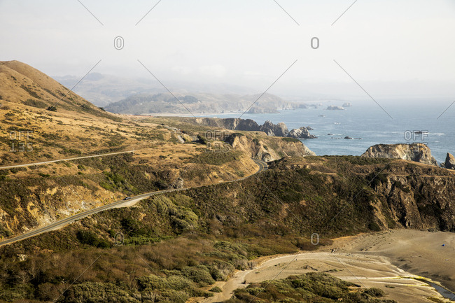 View of Highway 1 near Jenner, California