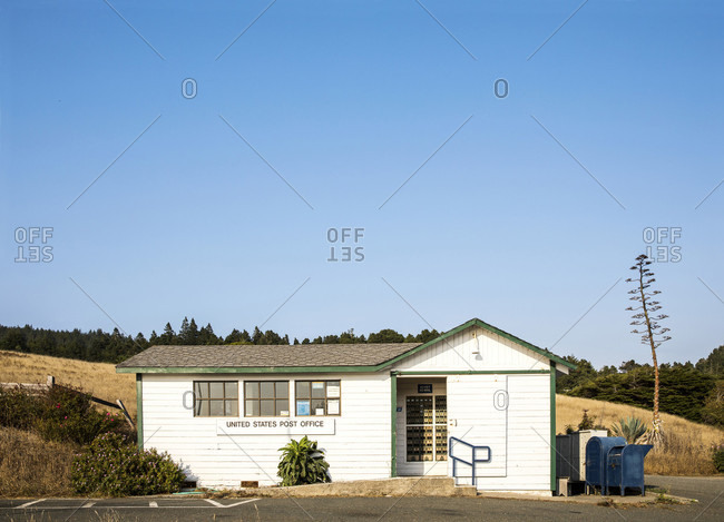 Stewarts Point, California, USA - September 16, 2017: Small town post office along California's North Coast