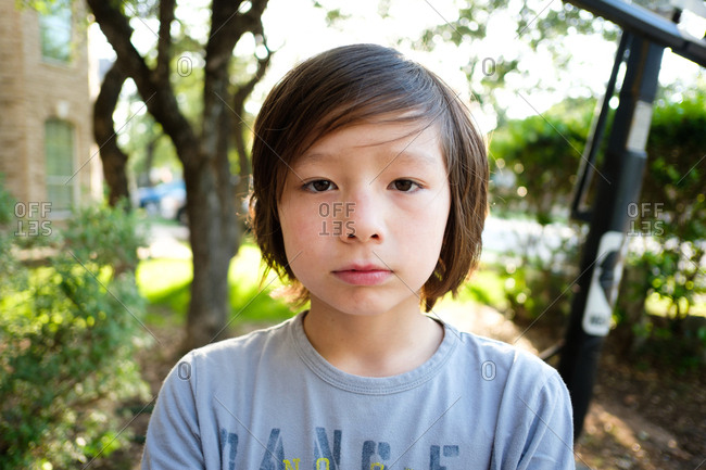 Portrait of a young Asian boy