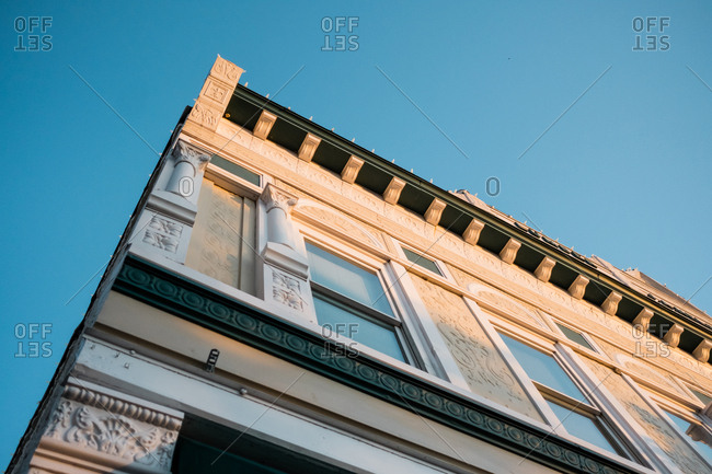 Low angle view of old building exterior