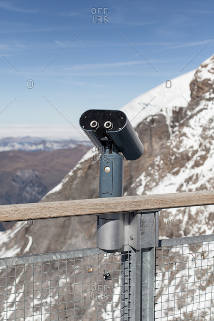Viewing machine in the Swiss Alps