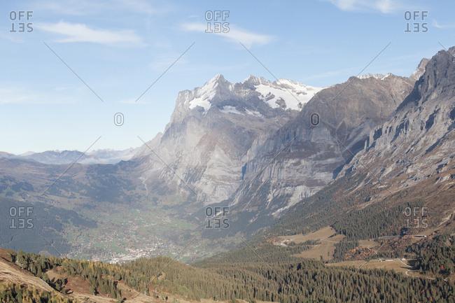 Jungfraujoch saddle in the Bernese Alps, Switzerland