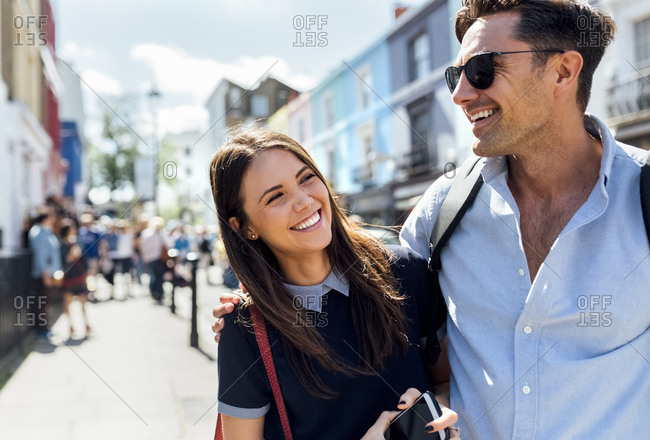 UK- London- Portobello Road- portrait of happy couple